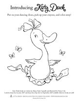 """Katy Duck"" coloring page"