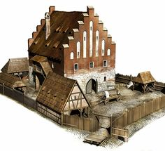 Reconstruction of the Great Weigh House in Kraków in the 15th century