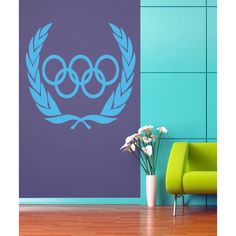 Olympic banner Wall Art Sticker Decal Blue