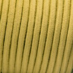 3-Conductor 18-Gauge Gold Cotton Pulley Cord -- cloth-covered electrical wire