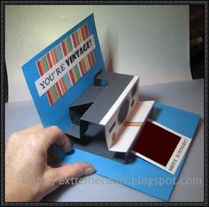 How To Make a Polaroid Camera Pop-Up Card