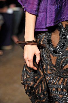 donna karan - appliqued leathers