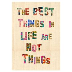 The Best Things in Life Wall Art