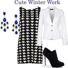 """""""Winter Work Outfit"""" by wolfpak on Polyvore"""