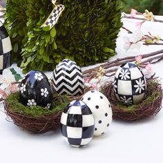 MacKenzie-Childs   Capiz Eggs - Set of 5