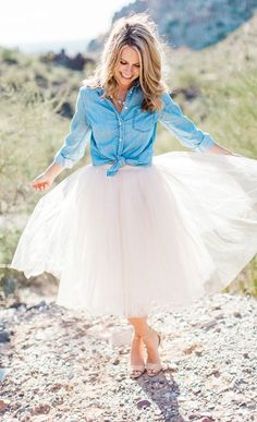 tulle and denim ♥️