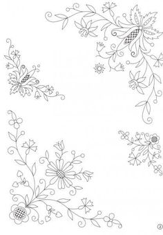 Gallery.ru / Foto # 32 - inspiração 5b - Helena10 Embroidery Flowers Pattern, Embroidery Works, Embroidery Transfers, Hand Embroidery Patterns, Floral Embroidery, Cross Stitch Embroidery, Hungarian Embroidery, Vintage Embroidery, Embroidery Techniques