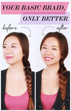 We're here to kick your basic braid up a knotch. While we love this classic look, sometimes it needs a little something to make it better. Try this hairstyle (for long or medium length hair) out the next time you're itching for a braid upgrade but don't have time to pull off an elaborately woven 'do.