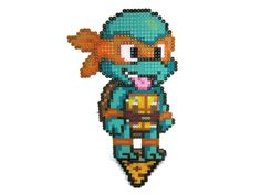 Teenage Mutant Ninja Turtles Perler Bead Sprite Character Figure by GeekMythologyCrafts