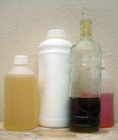 Varios aceites como ingredientes del jabón