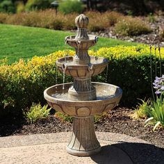 Napa Valley Three-Tier Courtyard Fountain (470 CAD) ❤ liked on Polyvore featuring home, outdoors, garden fountains, fountains, red, 3 shelf, three-shelf, three-shelves and 3 shelves