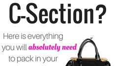 Are you having a scheduled c-section? Here is exactly what you will need to pack in your hospital bag for your scheduled c-section! Scheduled C Section, Hospital Bag For Mom To Be, C Section Recovery, Hospital Bag Checklist, Breastfeeding Tips, What To Pack, Baby Hacks, Stretch Marks, Pregnancy Tips