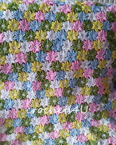 pdf patroon voor gehaakte baby bloemendeken / zonder door Crochets4U