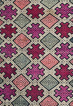 detail of Bouyi minority blanket