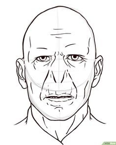 How to Draw Voldemort: 5 Steps (with Pictures) - wikiHow Harry Potter Sketch, Arte Do Harry Potter, Images Harry Potter, Harry Potter Drawings, Harry Potter Facts, Harry Potter Characters, Lord Voldemort, Voldemort And Bellatrix, Harry Potter Voldemort