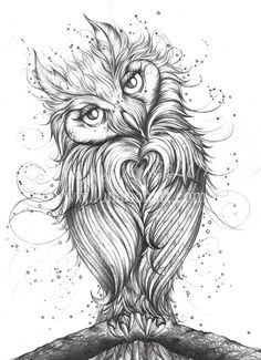 Owl Art  Loving You  Limited Edition Giclée by Lunarianart on Etsy