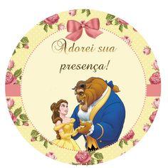 A Bela e a fera – Kit festa grátis para imprimir – Inspire sua Festa ®