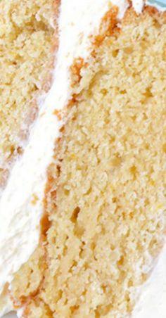 Caramel Cake with White Chocolate Buttercream