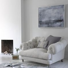 Summerleaze canvas print with Bagsie armchair in thatch Loaf.com
