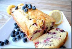 Lemon blueberry bread. Looks like a great breakfast alongside a cup of yogurt.