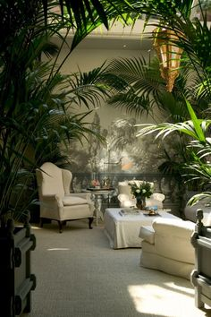 Tropical living space...love it.
