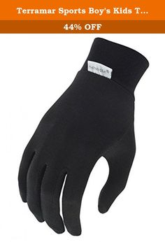 Terramar Sports Boy's Kids Thermasilk Glove Liner M Black. Over forty years ago Terramar was the first company to introduce silk performance base layer products. Thermasilk® is still a going strong. The Thermasilk Sock Liner offers a natural super soft touch and feel with all the technology you need. The result is a breathable lightweight liner that keeps you warm, dry and comfortable for all your outdoor adventures. The tradition continues.