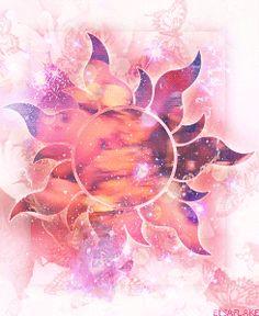 Rapunzel corona symbol sun fan art