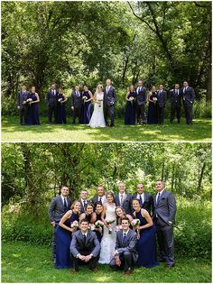 Bridal Party Park Portraits. Iowa Wedding Photography | CTW Photography