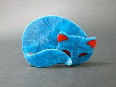 "Lea Stein ""Gomina"" cat brooch."