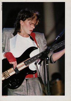 john taylor during 'sing blue silver' world tour, 1984