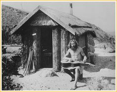 Bill Pester at his palm log cabin in Palm Canyon, 1917.    Man was intended to live in a state of nature. All mans troubles, sickness, anxieties and discontent come from a departure from nature. I would advise you to go back to nature, if you want to be cured; give up your extravagant habits, your high-priced hotel life, quit taking medicine and discharge your doctor. -Bill Pester