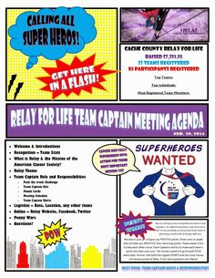 Stacey's Adventures: Relay for Life - Team Captain Meeting | Super Hero Theme!