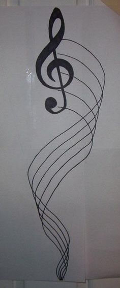 Right musical note tattoo