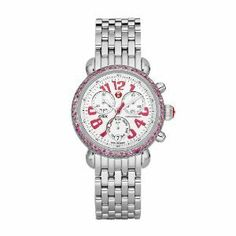 NEW Michele Women's MWW03M000161 Signature CSX-36 Carousel Ladies Pink Sapphire on Bracelet Swiss Movement 36mm Limited Edition | Your #1 So...