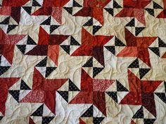 Red & tan stars... from Bonnie Hunter's Starstruck pattern (www.Quiltville.com).