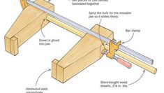 Wood jaws extend the reach of clamps - FineWoodworking