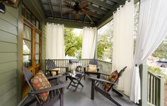 Porch made perfect!  Southern Living Custom Builder : Logan & Logan Construction Co., Inc.