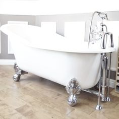 We just ordered a tub like this for the master bathroom!