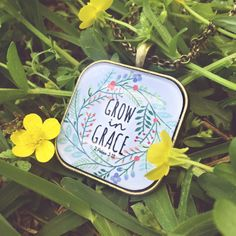Grow in Grace Square Pendant Tray necklace by Bethelightproject