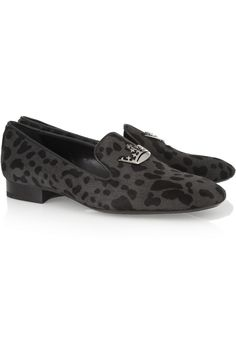 Church's | India animal-print calf hair slippers | NET-A-PORTER.COM