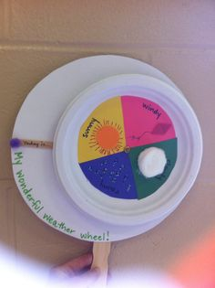 Weather wheel with only 4 sections (dumbed down for quicker project).