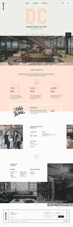 WeWork Building Page Concept by ToyFight