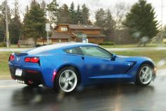 C7 Corvette spotted testing in the rain