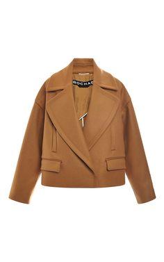 Rochas Wool Cashmere Oversize Jacket by Rochas for Preorder on Moda Operandi