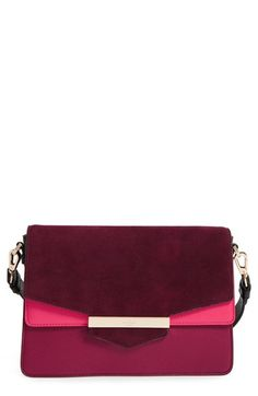 Free shipping and returns on kate spade new york carmel court - kaela leather shoulder bag at Nordstrom.com. Bold color blocking and mixed textures add trend-savvy sophistication to a chic, cosmopolitan leather-and-suede bag that easily stores and organizes your essentials. An adjustable shoulder strap provides stylish carrying options, whether you're running errands or going out to dinner.