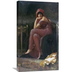 Global Gallery 'Sybil' by Lord Frederick Leighton Painting Print on Wrapped Canvas