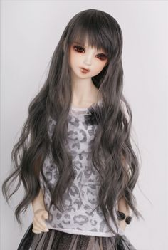 1/3 1/4 1 / 6BJD / SD doll wig Liu Qi hot wire F125 ash curls - Taobao