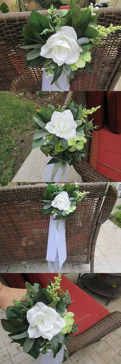 Ribbons and Bows 20941: 10 Wedding Pew Bows*Aisle Decorations*Greenery*Roses*Newest Color Of The Year -> BUY IT NOW ONLY: $72.99 on eBay!
