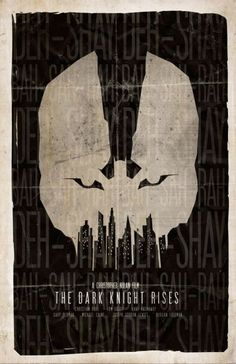 Dark Knight Rises posters - both official promo posters and fan posters - have spawned the most prolific use of narrative negative space in recent marketing memory. Good stuff; I like.