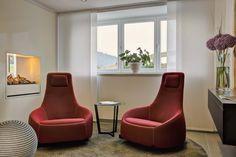 Ich bin angekommen - Schaukelstühle am Kamin Egg Chair, Modern, Lounge, Furniture, Home Decor, Environment, Natural Garden, Cottage Chic, Airport Lounge